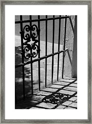 Framed Print featuring the photograph Detail Of Gate In Seville by Cendrine Marrouat