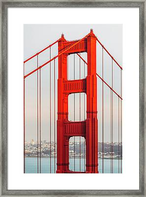 Detail Of Golden Gate Bridge, San Framed Print