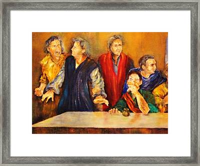 Detail Of Last Supper Framed Print by Dagmar Helbig