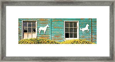 Detail Of Old Horse Barn, Escondido Framed Print