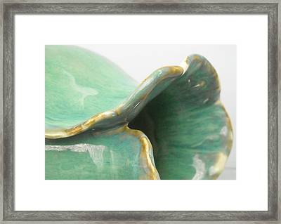 Detail Of Porcelain Petal Vase #4 Framed Print