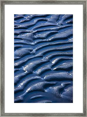 Detail Of Ripples In The Mud At Womens Framed Print