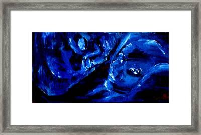 Detail Of Seeking Sleep-2 Framed Print by Kathy Peltomaa Lewis