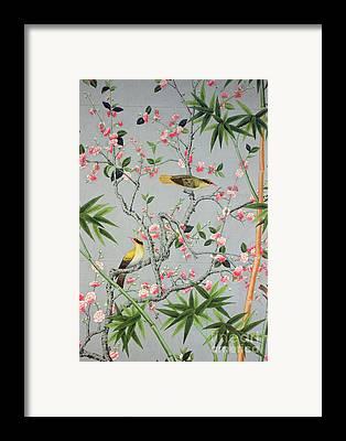 Bamboo Leaves Motif Framed Prints