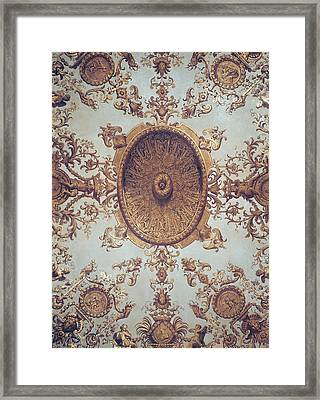 Detail Of The Ceiling In The Grand Salon Framed Print