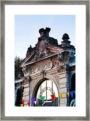 Detail Of The Covered Market, Narbonne Framed Print by Panoramic Images