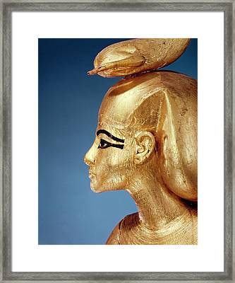 Detail Of The Goddess Selket From The Canopic Shrine, From The Tomb Of Tutankhamun, New Kingdom Framed Print