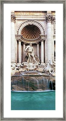 Detail Of The Trevi Fountain, Rome Framed Print by Panoramic Images