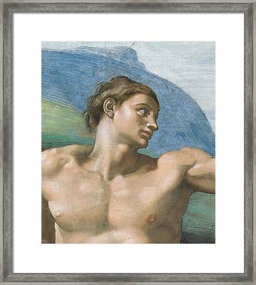 Detail Of The Vault Framed Print by Michelangelo