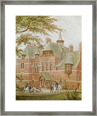 Detail Of Westhoe Hall, South Shields. Built By J.c. Stevenson To The Design Of His Brother J.j Framed Print by Anonymous