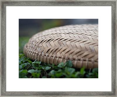 Detail Of Woven Basket In Hoi An Framed Print by David H. Wells