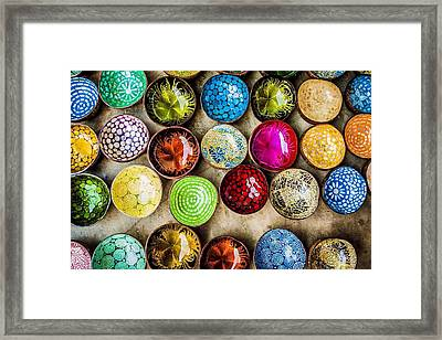 Detail Shot Of Colorful Bowls Framed Print by Nam Bui Anh / Eyeem
