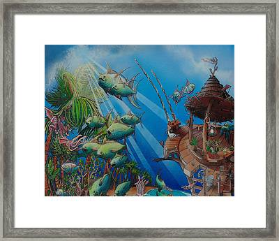 Detail Top Of The Great Tuna Mindgration Framed Print by Stacey Heney