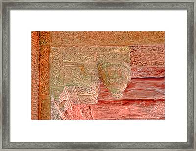 Detailed Ceiling Support At Fatepur Sikri Palace Framed Print