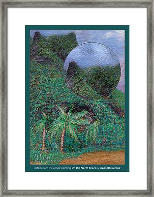 Details From On The North Shore Framed Print by Kenneth Grzesik