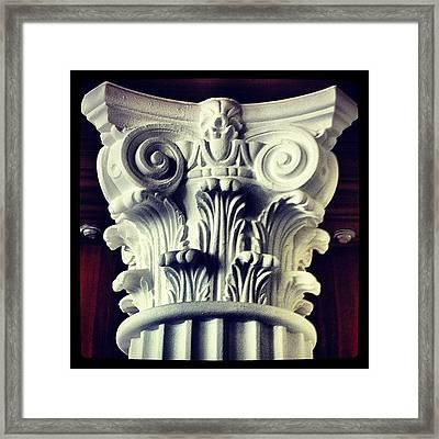 #details Of A Decorational #pillar Framed Print