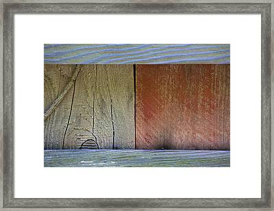 Details Of A Weathered Barn Door Framed Print