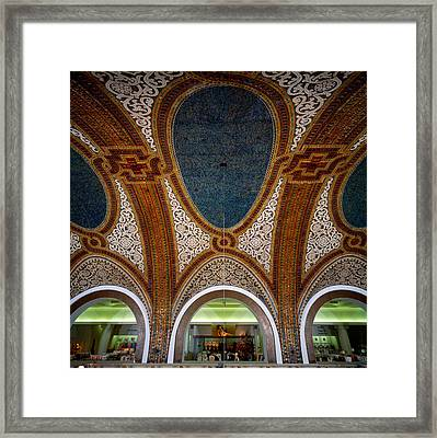 Details Of Tiffany Dome Ceiling Framed Print by Panoramic Images