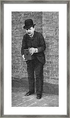 Detective Camera, 1889 Framed Print by Granger