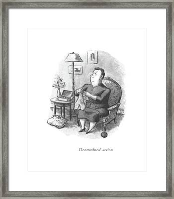 Determined Action Framed Print by William Steig