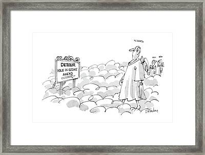 Detour:  Hole In Ozone Ahead Framed Print