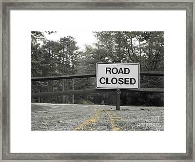 Framed Print featuring the photograph Detour by Michael Krek