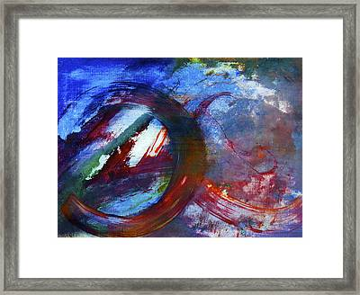 Framed Print featuring the painting Detour by Tracey Myers