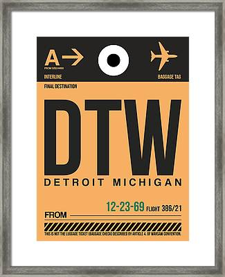 Detroit Airport Poster 1 Framed Print by Naxart Studio