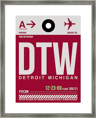 Detroit Airport Poster 2 Framed Print by Naxart Studio