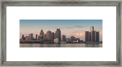 Detroit At Dusk Framed Print by Andreas Freund