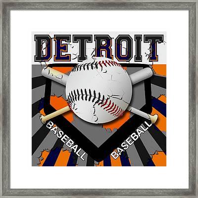 Detroit Baseball  Framed Print by David G Paul