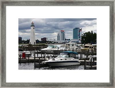 Detroit Boat Docks Framed Print