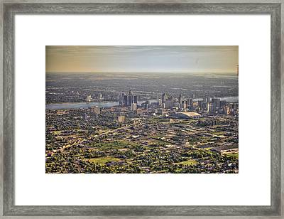 Detroit From Twenty Five Hundred Feet Framed Print by A And N Art