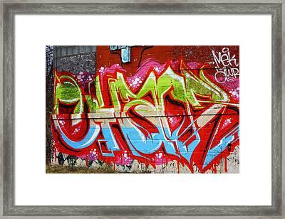 Detroit Graffiti Framed Print