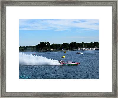 Detroit Hydroplane Race  Framed Print by Michael Rucker