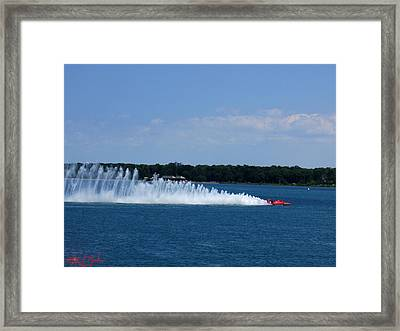 Detroit Hydroplane Races Framed Print by Michael Rucker