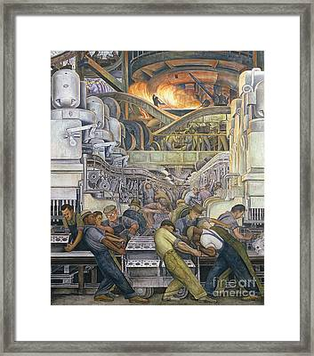 Detroit Industry  North Wall Framed Print by Diego Rivera