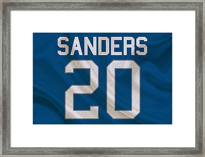 Detroit Lions Barry Sanders Framed Print by Joe Hamilton