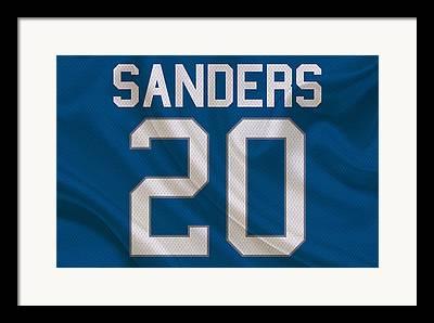 Barry Sanders Framed Prints