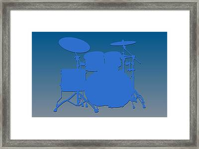 Detroit Lions Drum Set Framed Print by Joe Hamilton
