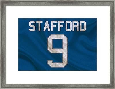 Detroit Lions Matt Stafford Framed Print by Joe Hamilton