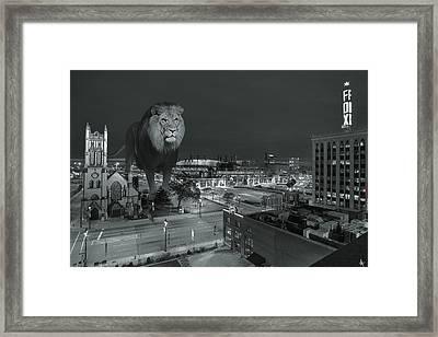 Detroit Lions Framed Print by Nicholas  Grunas