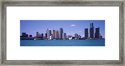 Detroit Mi Usa Framed Print by Panoramic Images