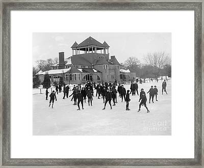 Detroit Michigan Skating At Belle Isle Framed Print