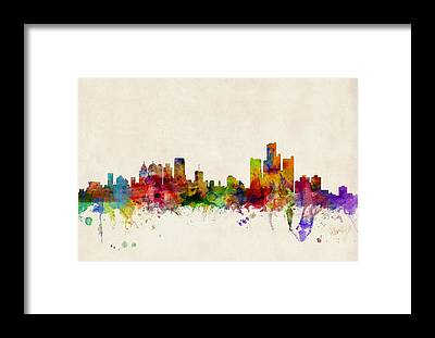 Detroit Framed Prints