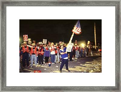 Detroit Newspaper Strike Framed Print