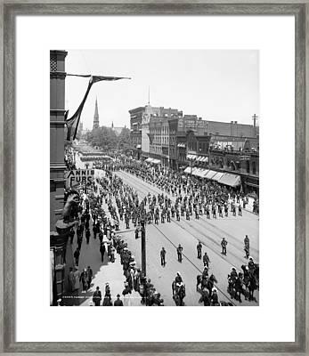 Detroit Parade, C1905 Framed Print by Granger