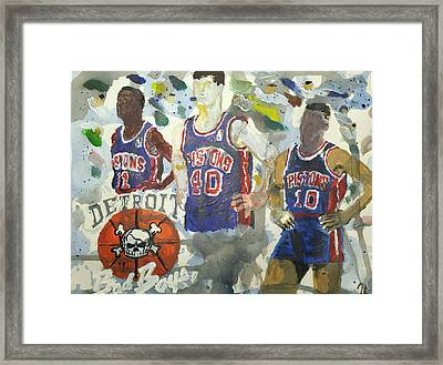 Detroit Pistons Bad Boys  Framed Print