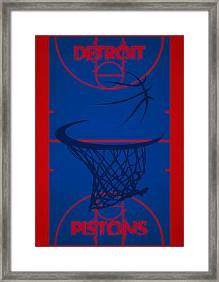 Detroit Pistons Court Framed Print