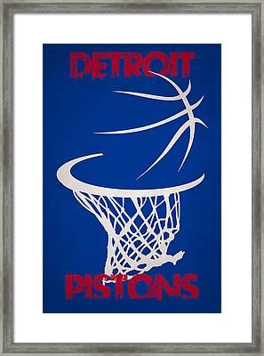 Detroit Pistons Hoop Framed Print